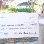 Lani Cabanilla with check from Maui Charity Walk