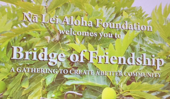 Photo of Na Lei Aloha Foundation Welcome sign
