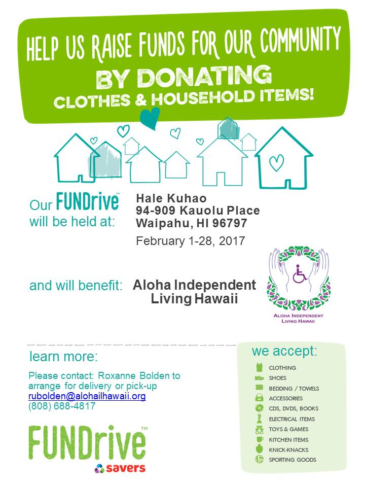 Photo of AILH Savers Community Drive Flyer
