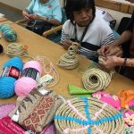 Photo of Liv! Zentangles members working with rope project