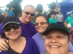 Photo of Roxanne and family at Oahu Charity Walk