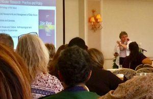 Photo of Kathy Greenlee speaking