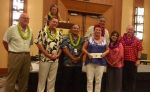 Hawaii Island Charity Walk check presentation