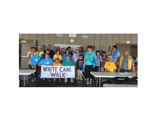 Group photo of White Cane Walk participants in Hilo