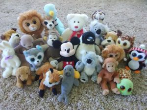 Photo of various stuffed animals