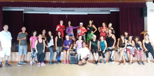 Group photo at Zumba Jam