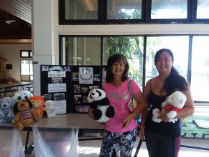 Photo of participants dropping off stuffed animals