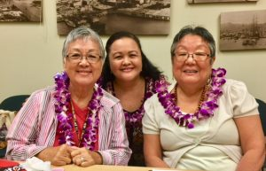 Photo of Roxanne Bolden, Linda Lambrecht, and Annette Tashiro