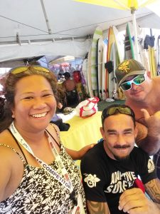 Victor with Lani and man