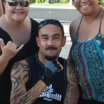 Victor with Roxanne and Lani
