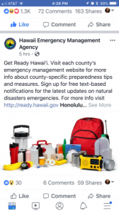 Get Ready Hawaii. Visit each county's emergency management website for more info about county-specific preparedness tips and measures. Sign up for free text-based notifications for the latest updates on natural disaster emergencies.