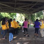 Photo of Hilo White Cane Day participants gathering in circle