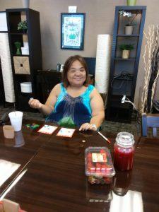 Photo of first bingo winner