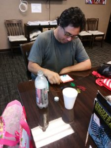 Photo of member playing bingo
