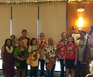 Photo of Maui entertainers with Maui staff