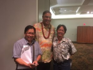 Photo of Tom and Mufi Hannemann at Oahu Charity Walk Kickoff event