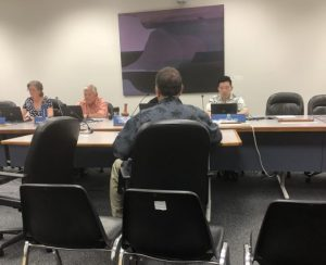 Photo of Brian sitting before the Committee on Commerce, Consumer Protection, and Health