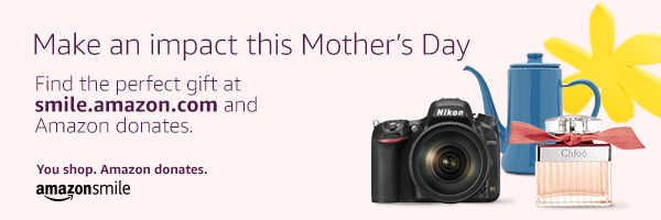Make an impact this Mother's Day. Find the perfect gift at smile.amazon.com and Amazon donates. You shop. Amazon donates. amazonsmile.
