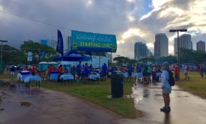 Photo of Oahu Charity Walk starting line